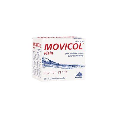 MOVICOL PLAIN jauhe oraaliliuosta varten, annospussi 30 kpl