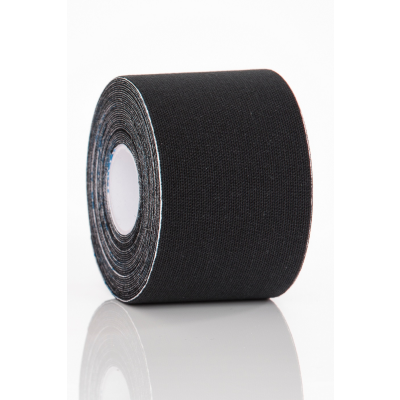 Kinesioteippi, musta 5cm x 5m Gymstick 1 kpl