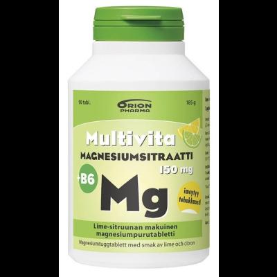 MULTIVITA MAGN.SITR.+B6 LIME-SITRUUNA 150 mg 90 purutabl