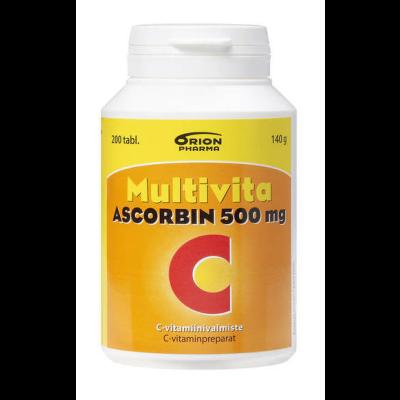 MULTIVITA ASCORBIN 500MG X200TABL