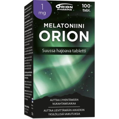 MELATONIINI ORION 1 MG SUUSSA HAJOAVA TABLETTI 100 KPL
