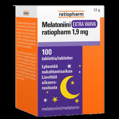 MELATONIINI EXTRA VAHVA RATIOPHARM 1,9 MG 100 tabl