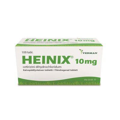 HEINIX 10 mg tabl, kalvopääll 100 fol