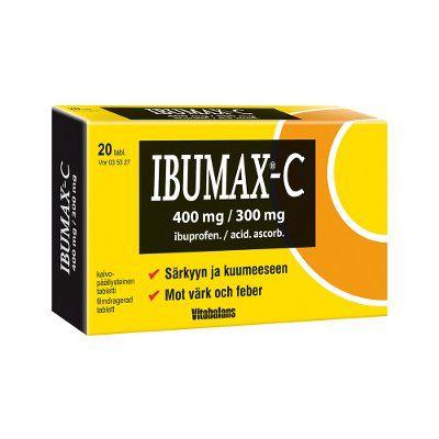 IBUMAX-C 400/300 mg tabl, kalvopääll 20 fol